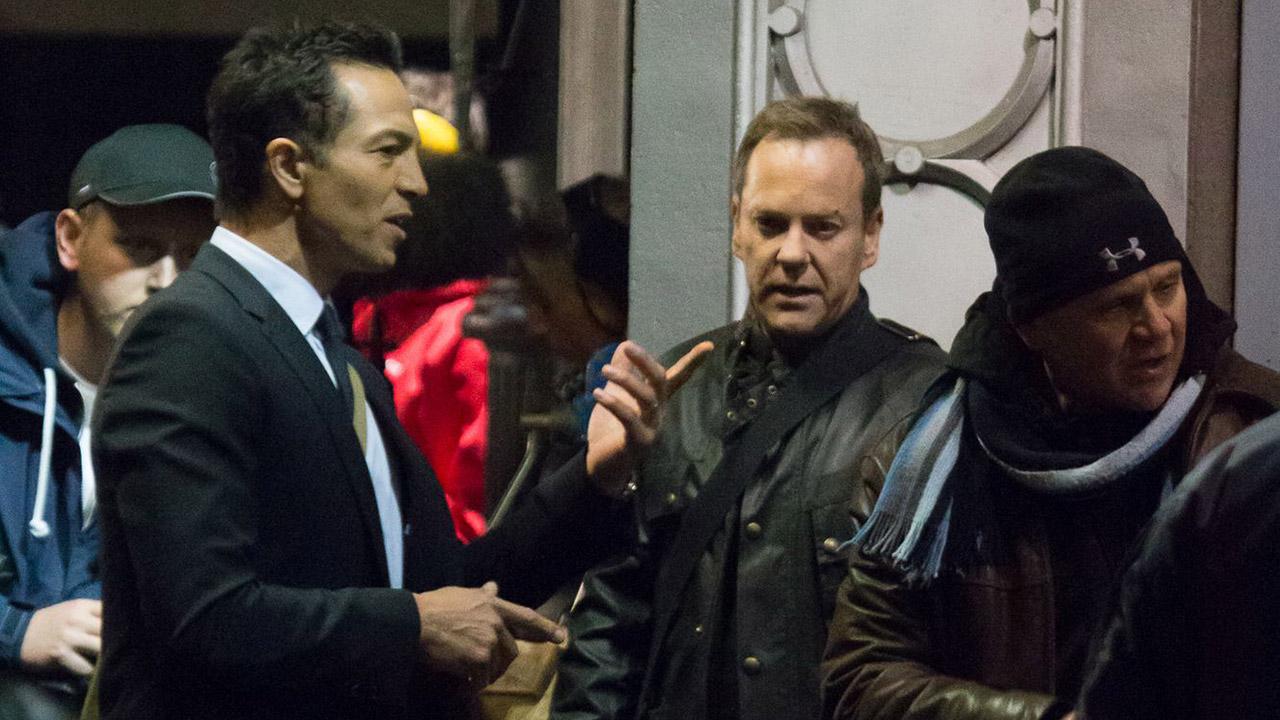 Benjamin-Bratt-Kiefer-Sutherland-Filming-24